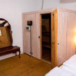 Ferienwohnung am Schloß - Sauna Tür auf