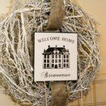 Ferienwohnung am Schloß - Welcome Home Schild