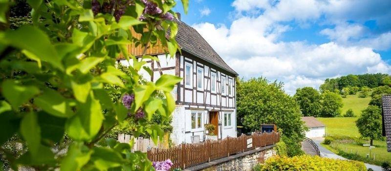 Das Landhaus am Himmelsberg in der Außenansicht