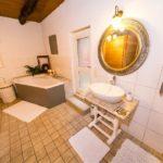 Landhaus am Schloß - Badewanne im Bad
