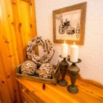 Landhaus am Schloß - Kerzen im Schlafzimmer