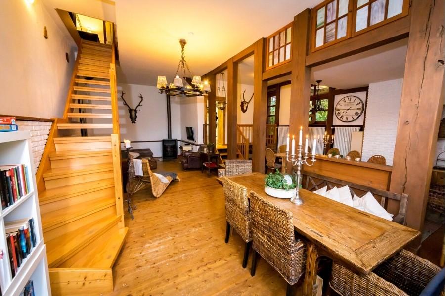 Willkommen im Aufenhaltsraum der Ferienwohnung altes Dorsthaus