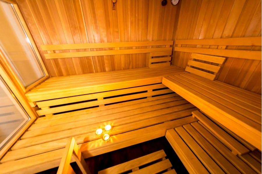 Sauna innenraum Ferienwohnung altes Forsthaus